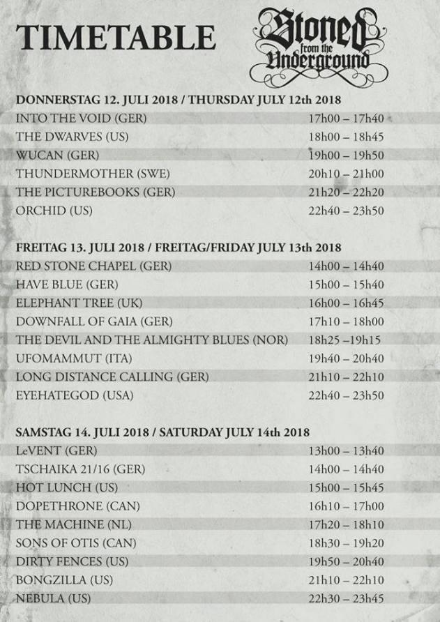 timetable STFU